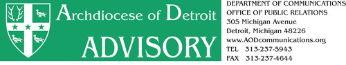 Masthead Banner.  (PRNewsFoto/Archdiocese of Detroit)