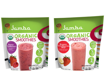 "Inventure Foods To Offer Its Best-Selling Jamba(R) ""At Home"" Smoothies In Certified-Organic Varieties"