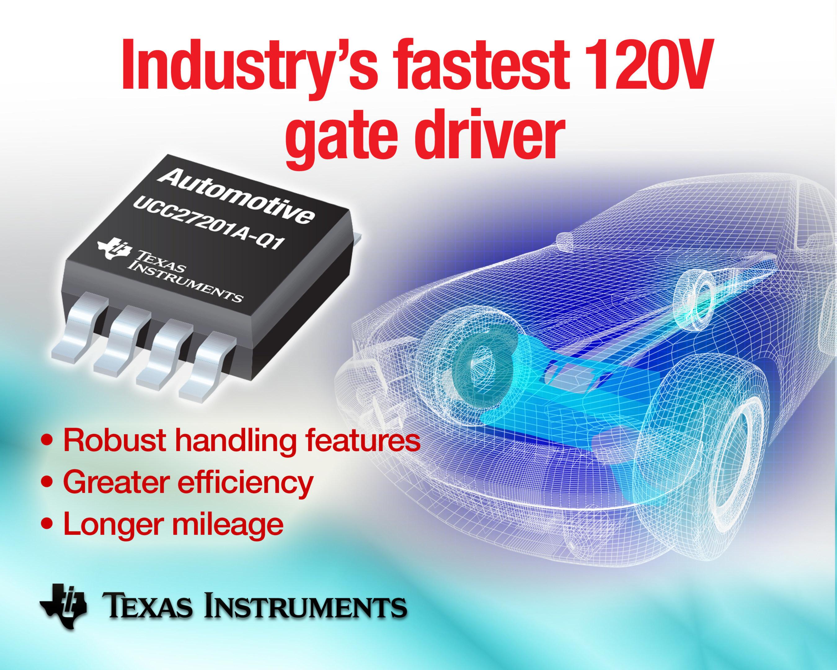 TI half-bridge gate driver improves power system performance in hybrid vehicles