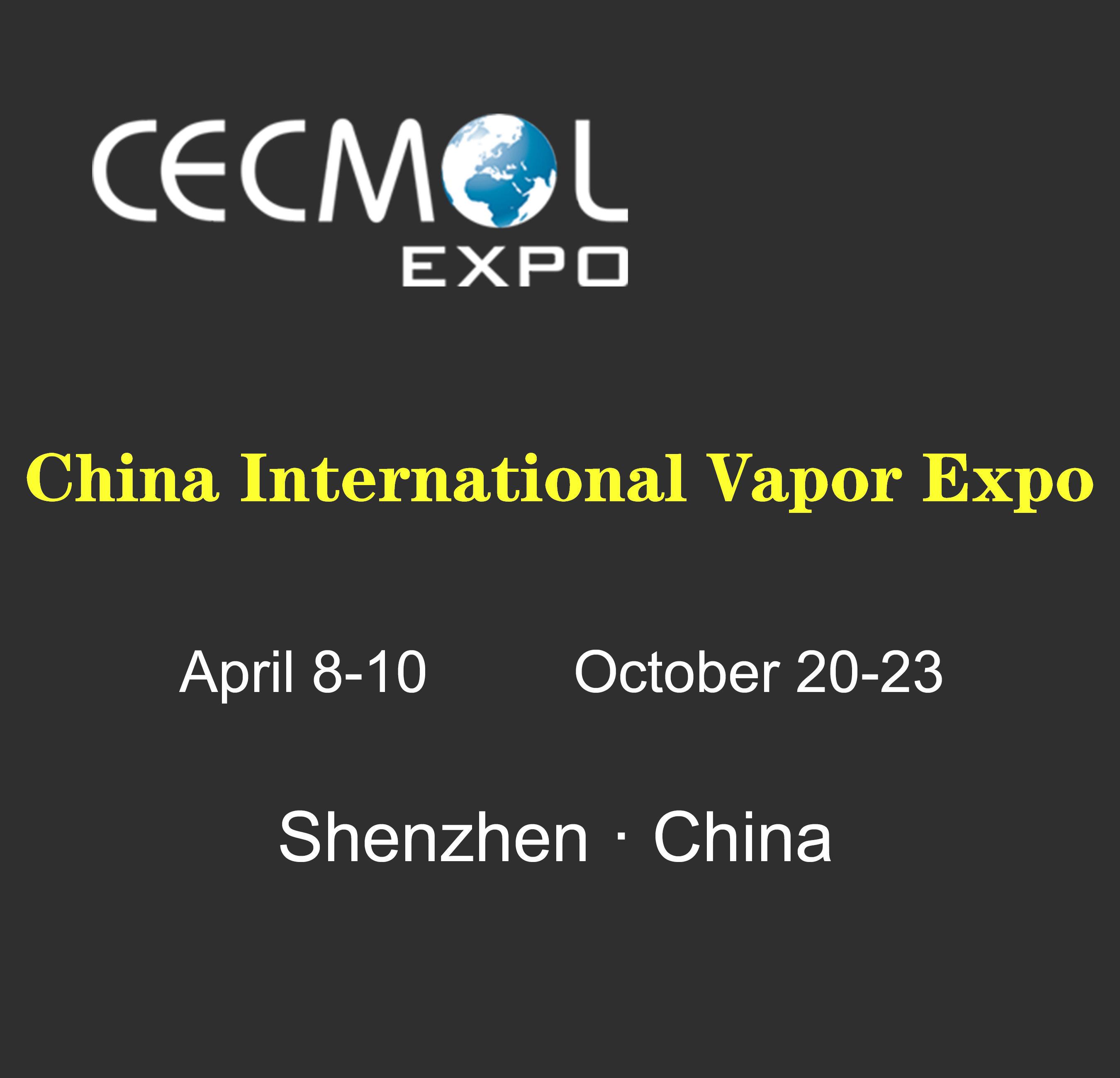 Le 2ème salon CECMOL China International Vapor Expo aura lieu à Shenzhen en octobre