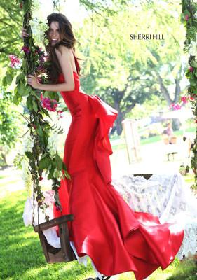 Laura Marano for Sherri Hill Spring 2016.