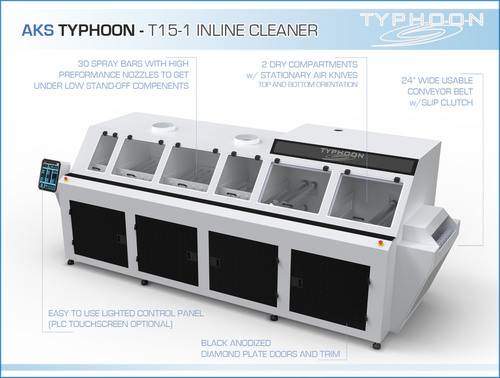 AKS Typhoon T15 Inline Cleaner Infographic (PRNewsFoto/Valtronic)