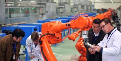 The ABB robot of SUPOR. (PRNewsFoto/SUPOR KITCHEN & BATH CO.,LTD) (PRNewsFoto/SUPOR KITCHEN & BATH CO.,LTD)