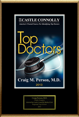 Dr. Craig M Person MD is recognized among Castle Connolly's Top Doctors(R) for Greenbelt, MD region in 2013.  (PRNewsFoto/American Registry)