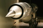 A cruise-missile inlet undergoes supersonic testing in the Lockheed Martin High Speed Wind Tunnel.