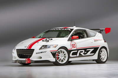 Honda's HPD CR-Z Racer is just one of 10 entries Honda will field in the 2013 Pikes Peak International Hill Climb.  (PRNewsFoto/American Honda Motor Co., Inc.)