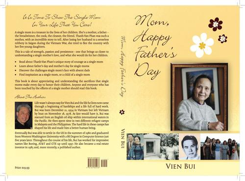 """""""Mom, Happy Father's Day!"""" book cover.  (PRNewsFoto/Vien Bui)"""