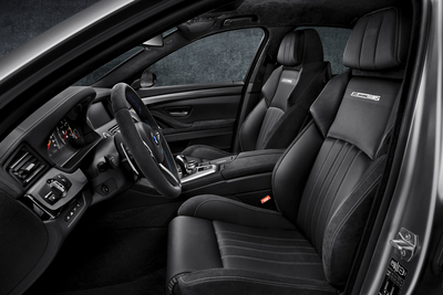 BMW 30 Jahre M5 interior featuring Alcantara. (PRNewsFoto/Alcantara)