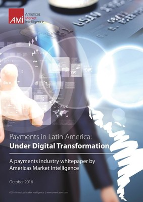 Cover of free whitepaper by Americas Market Intelligence on payments in Latin American e-commerce and m-commerce markets