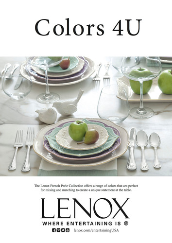 Lenox Corporation Celebrates 125 Years Of American Style, Design And Craftsmanship. (PRNewsFoto/Lenox Corporation) (PRNewsFoto/LENOX CORPORATION)