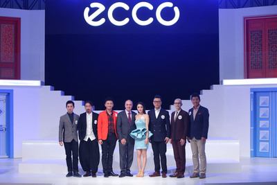 ECCO China 2014 Brand Ambassador (Ms. Qin Lan) with Celebrity Guests and Brand Executive