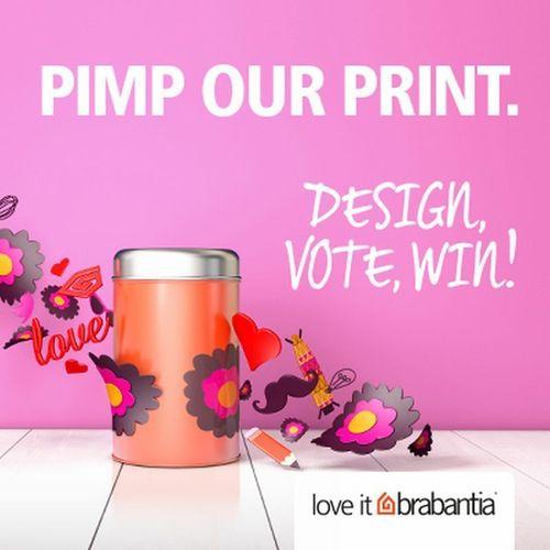 Brabantia's Pimp Our Print Competition (www.brabantia.com/design) (PRNewsFoto/Brabantia)