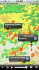 WeatherSphere Adds Lightning Strikes To Its Best Selling NOAA Hi-Def Radar App.  (PRNewsFoto/WeatherSphere)