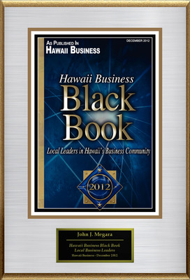 "John J Megara, MBA Administrator of Hale Nani Rehabilitation and Nursing Center Selected For ""Hawaii Business Black Book"".  (PRNewsFoto/American Registry)"