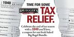 "Bruegger's Bagels Offers A Happier Take On The Dreaded ""1040"" This Tax Season.  (PRNewsFoto/Bruegger's Enterprises, Inc.)"