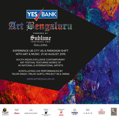 Yes Bank Art Bengaluru 2015 powered by Sublime Galleria, Bangalore's finest Art Festival, 21-30 Aug! (PRNewsFoto/Art Bengaluru) (PRNewsFoto/Art Bengaluru)