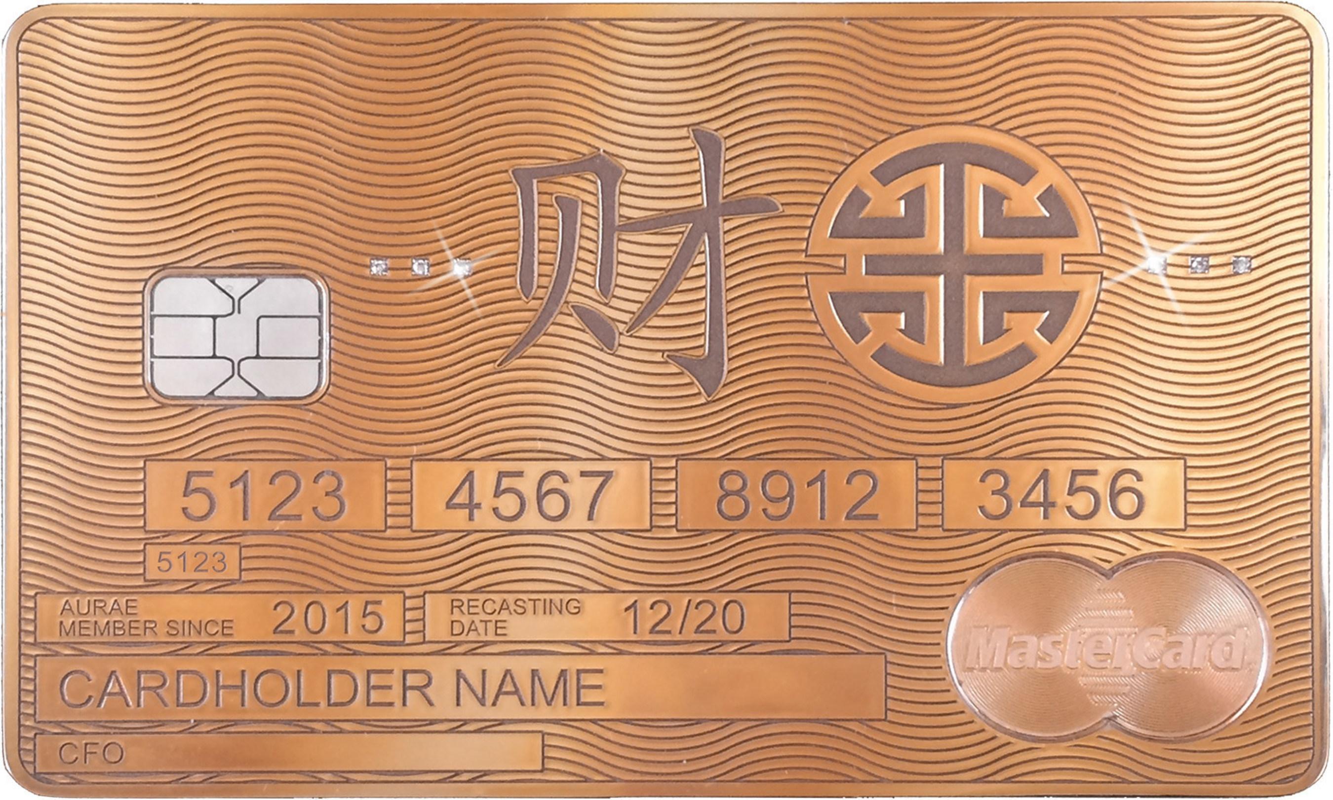 Aurae представляет эксклюзивную имиджевую программу и карту Aurae Solid Gold MasterCard®
