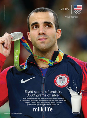 U.S. Olympic Gymnast and Team Milk Athlete Danell Leyva Brings Home Two Silver Medals for Team USA