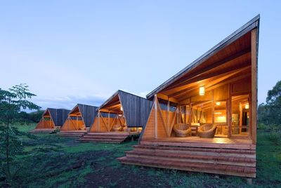 Cabanas Morerava, Hanga Roa, Easter Island, Chile. For a monumental stay on the famous Easter Island, previous guests at Cabañas Morerava looked for something unique – and found it. The solar-powered cabins let you exist in harmony with the protected landscapes around you, with a bright, pine-clad design and hammocks on each terrace. Reviewers were thrilled at the warm welcome and personal service, with fresh fruit and juices provided daily, and help being offered on car rental and day trips to visit the island's legendary stone statues.