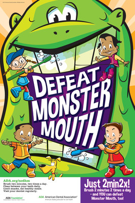 "The theme of National Children's Dental Health Month is ""Defeat Monster Mouth."" For information visit MouthHealthy.org"