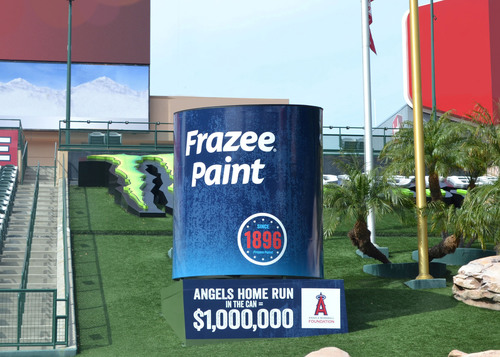 Frazee Paint tosses $1 million home run challenge to Los Angeles Angels to benefit the Angels Baseball Foundation. (PRNewsFoto/Frazee Paint) (PRNewsFoto/FRAZEE PAINT)