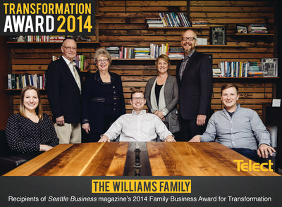 "Telect was honored at Seattle Business magazine's 2014 Family Business Awards, in Seattle, on November 18. Telect and the Williamses received the 2014 Transformation Award for ""encouraging and embracing new opportunities."" Learn more at www.telect.com/SBM. Also, check out the Family Business Awards feature in the December issue of Seattle Business magazine at www.tigeroakmag.com/seattle-business/Dec2014"