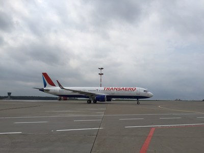 Transaero Airlines receives its Airbus A321 (PRNewsFoto/Transaero Airlines)