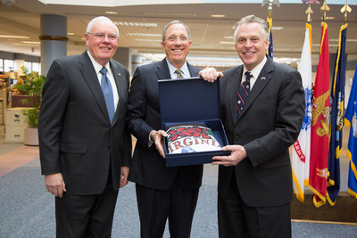 (From L to R) Retired Vice Adm. John Lockard, Navy Federal Credit Union Chairman of the Board, Cutler Dawson, Navy Federal Credit Union President and CEO, and Virginia Gov. Terry McAuliffe