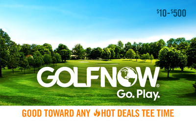Giving the gift of golf is as easy as a click of the mouse with GolfNow Go Play Gift Cards. Visit www.GolfNow.com to order.