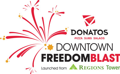 Donatos Downtown Freedom Blast, July 4, 2013, Indianapolis.  (PRNewsFoto/Emmis Communications Corporation)