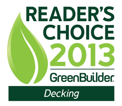 Trex Company, the world's largest manufacturer of wood-alternative decking and railing, recently took top honors in the decking products category of Green Builder Media's 2013 Reader's Choice Awards.  (PRNewsFoto/Trex Company)