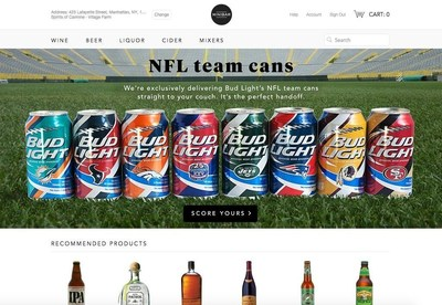 Bud Light, the Official Beer Sponsor of the National Football League, is teaming up with Minibar alcohol delivery service to offer its full line of 28 NFL team-specific Bud Light cans to fans in America's melting pot, Manhattan.