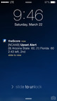 An Upset Alert on theScore for iPhone.  (PRNewsFoto/theScore, Inc.)