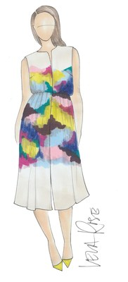 A sketch from Lela Rose for Lane Bryant. Image: Lane Bryant (PRNewsFoto/Lane Bryant)