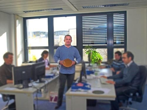 Bitcoin Brothers COO Mark Welle with Engineers (PRNewsFoto/Bitcoin Brothers GmbH _ Co KG)