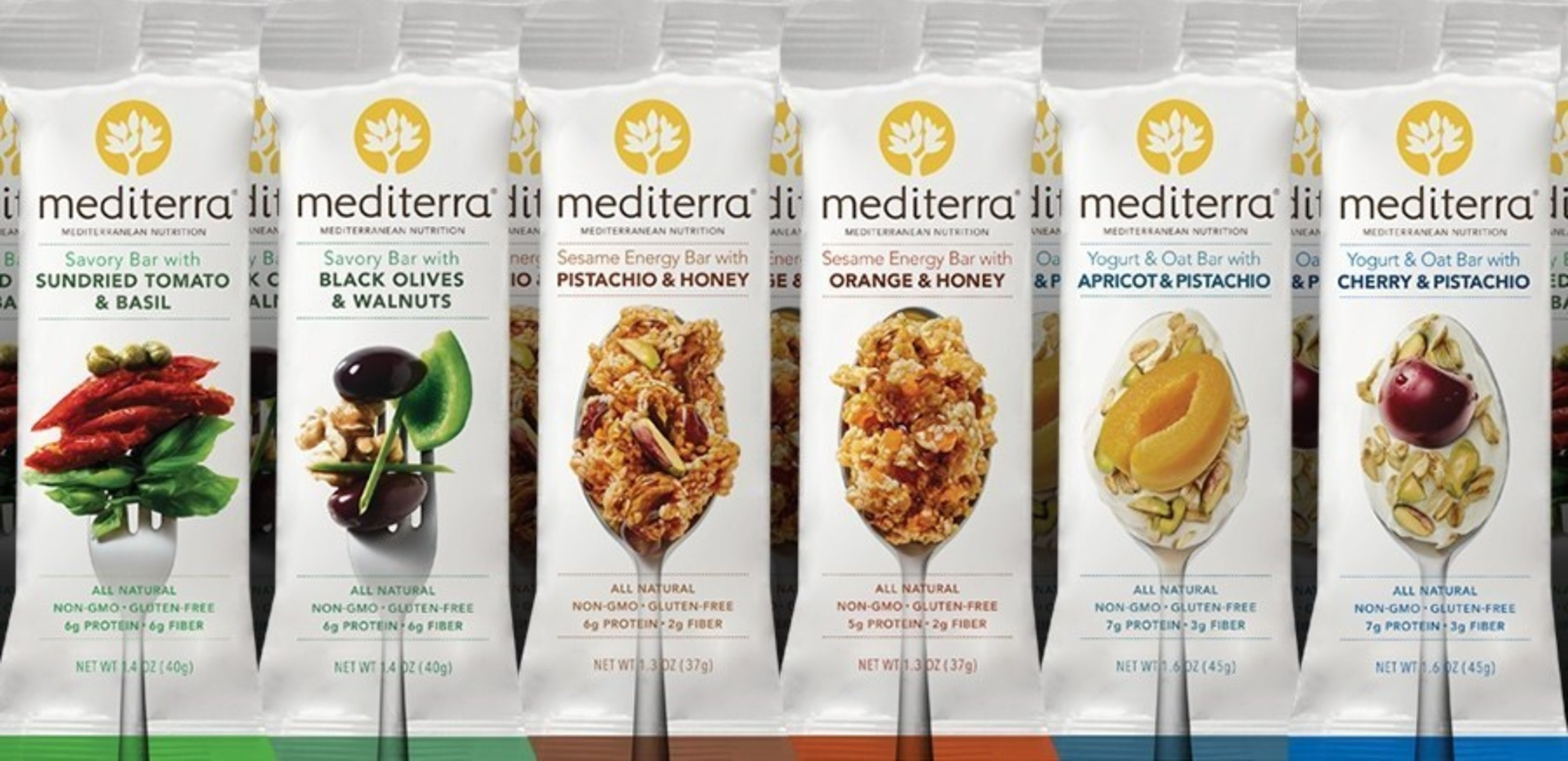 Mediterra, the first nutrition bars based on the Mediterranean Diet, makes its Target stores debut. The six various bar flavors feature fruits, vegetables, seeds and grains native to the Mediterranean region. The bars are all-natural, non-GMO and Gluten-Free.