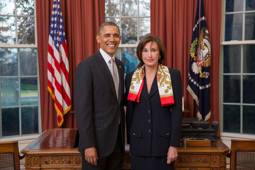 Congratulations to Ambassador Maguy Maccario Doyle, former consul general in New York and director of Monaco's Tourist Office who presented her credentials to President Barak Obama at a special ceremony in the White House on December 3, 2013. (PRNewsFoto/Embassy of Monaco) (PRNewsFoto/EMBASSY OF MONACO)
