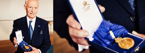 BABYBJORN'S Founder Awarded Royal Medal.  (PRNewsFoto/BABYBJORN)