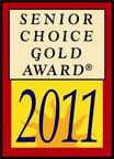 2011 Senior Choice Gold Award.  (PRNewsFoto/Arcadian Health)