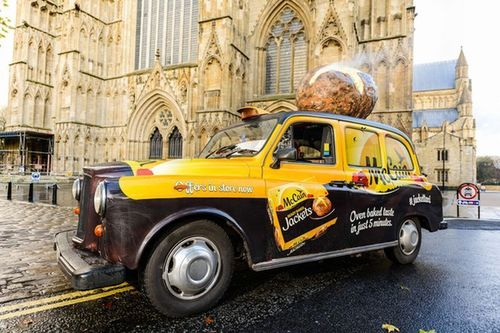 World's first potato scented taxi (PRNewsFoto/McCain)