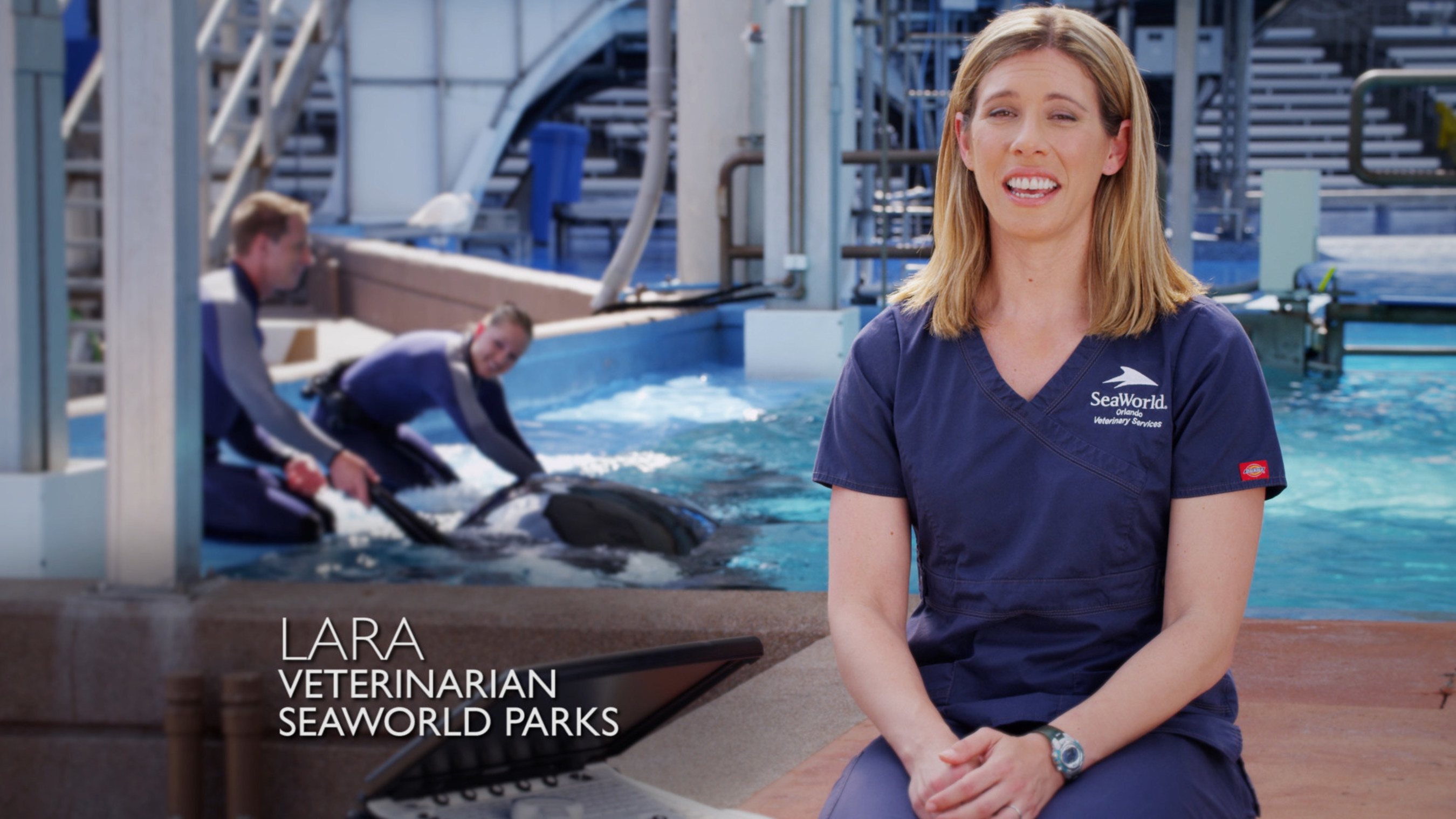 SeaWorld veterinarian Dr. Lara Croft speaks about her commitment to the care of killer whales in SeaWorld's new TV ad.