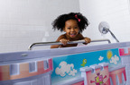 The American Standard FunBath(TM), an innovative temporary tub conversion kit with a convenient 37-inch height, makes it easier for caregivers, while creating an engaging experience for kids.  (PRNewsFoto/American Standard Brands)