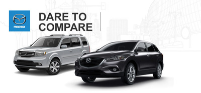 Ocean Mazda of Miami compares the Mazda CX-9 to the Honda Pilot.  (PRNewsFoto/Ocean Mazda)