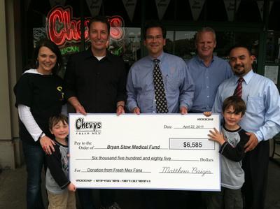 Chevys Fresh Mex Raises $6585 for Hospitalized Baseball Fan