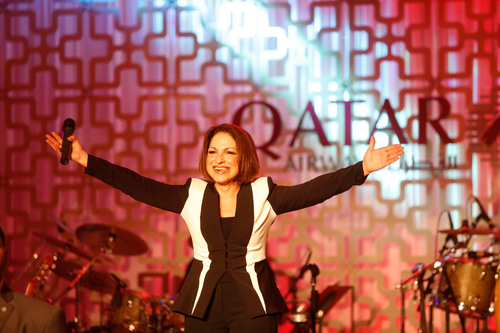 International Superstar Gloria Estefan Performs During the Qatar Airways Miami Gala Celebrating the New Service  ...