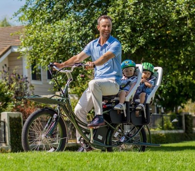 Pedego Introduces a Superhero Bike - the Stretch Cargo!  Carry heavy loads or even a second rider (or two!) on amazing new Pedego electric bicycle.
