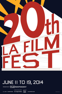 Los Angeles Film Festival 20th Anniversary Poster by Ed Ruscha.  (PRNewsFoto/Film Independent)
