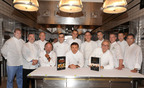 Relais & Chateaux chefs Jason Robinson, Christopher Brooks, Patrick O'Connell, Joachim Splichal, Eli Kaimeh, Daniel Boulud, Daniel Humm, Thomas Keller, Thomas Henkelmann, Jean Joho, Jonathan Gushue, Jonathan Cartwright and Tony Esnault gathered at Per Se in New York on September 28 to launch two new cookbooks, 85 Inspirational Chefs and Chefs at Home.  The lavish books feature signature recipes and profiles of every Relais & Chateaux chef in North America.  For information or to purchase, call (877) 334-6464.  (PRNewsFoto/Relais & Chateaux)