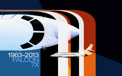 Dassault Falcon will celebrate its 50 years anniversary in May 2013
