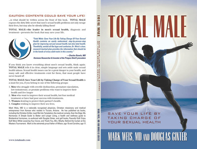"""""""Total Male: Save Your Life by Taking Charge of Your Sexual Health."""" (PRNewsFoto/Douglas Ginter)"""